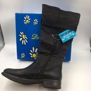 NIB DE BLOSSOM Women/'s Round Toe Zip Up Riding Boots PITA-17 Cognac
